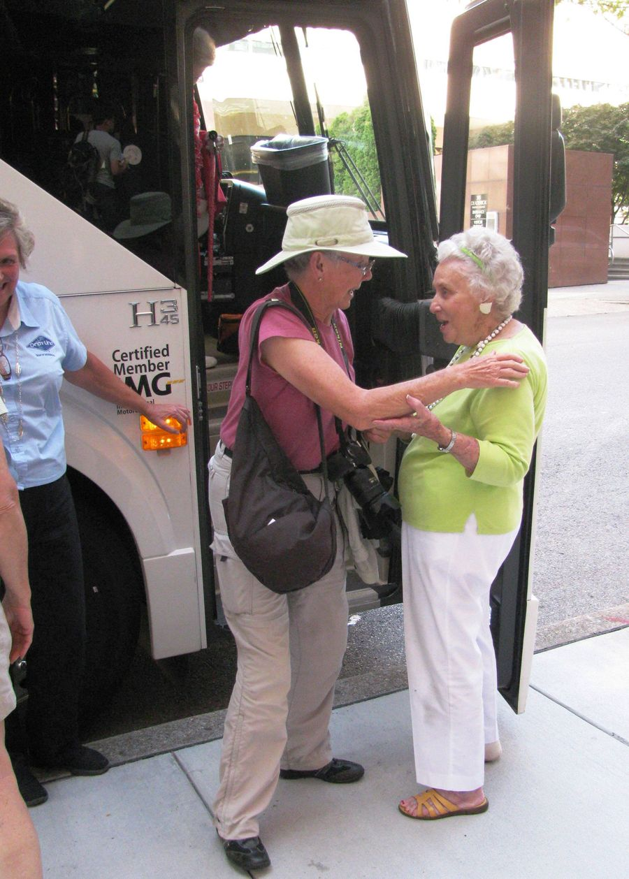 Joan Wood thanking Betty Walker, our tour guide for the day