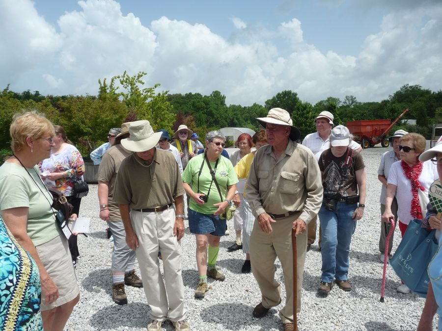 Don Shadow talking with the group while strolling through the nursery