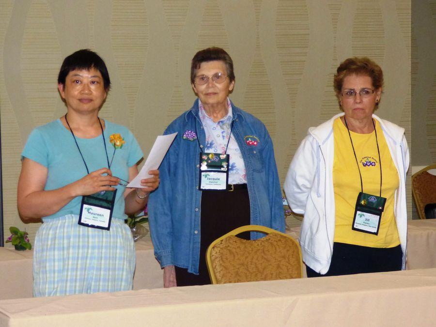 Practice judging team Maureen Mark, Jacquie Eisenhut, Jill Fischer