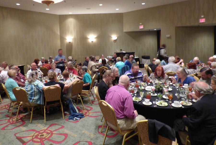 Socializing at the Awards Banquet