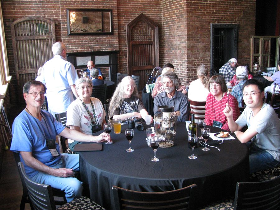 Group relaxing at the Saturday night closing event at BB King's