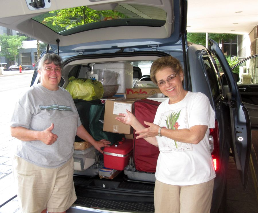 Karyn Cichocki & Jill Fischer packed up and ready to leave … till we meet again next year