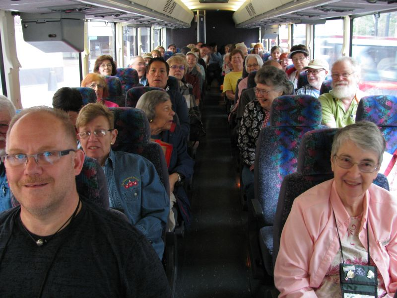 Group on the bus for the pre-convention trip