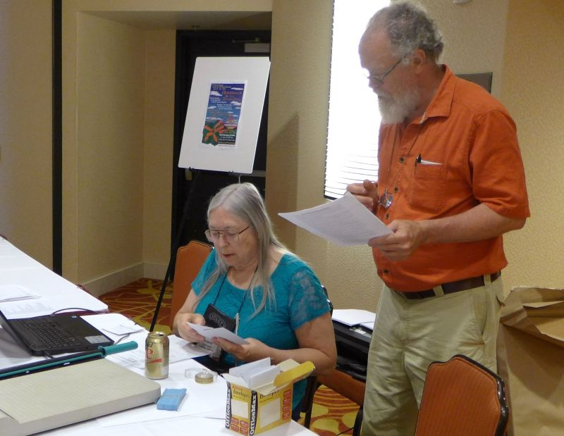 Entries Chair Debra LaVergne and Classification Co-Chair Bob Stewart