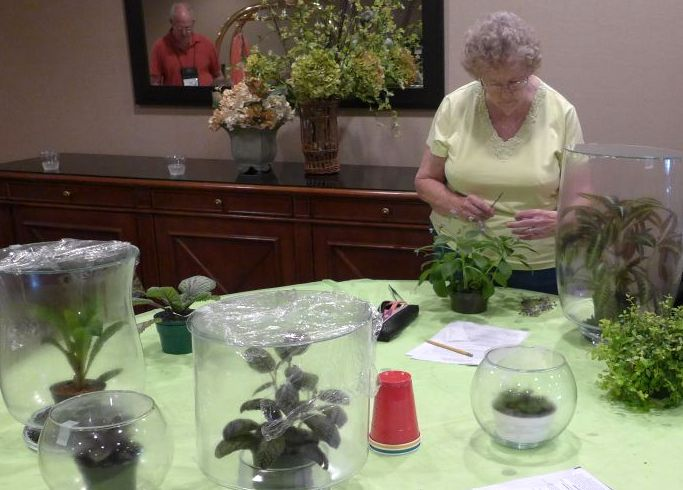 Nancy Kast prepping her entries