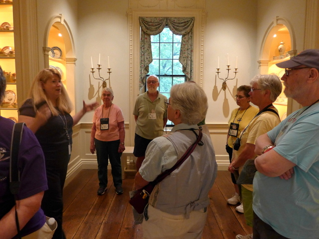 Docent discussing the history of the house