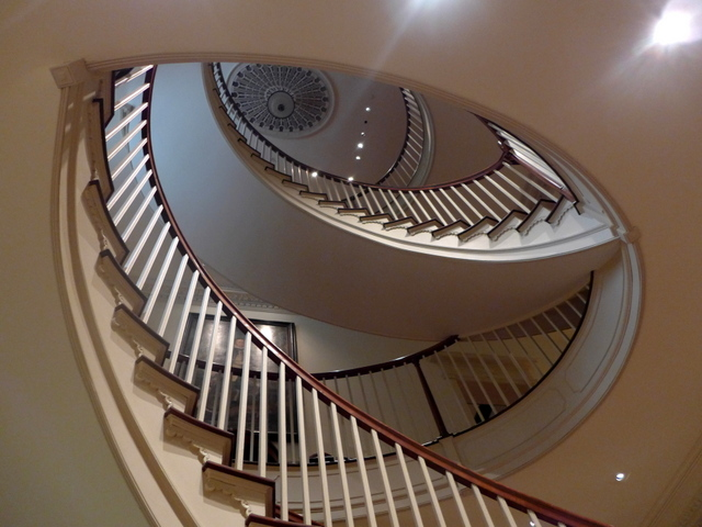 The main spiral staircase