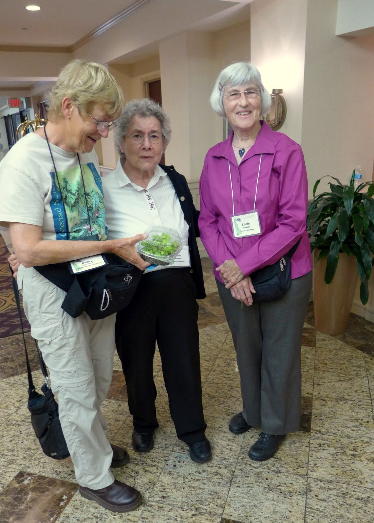Betsy Gottshall, Anne Vidaver and Loris Purtzer