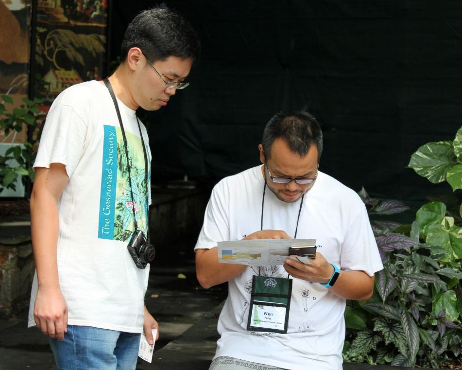 Hong Xin and Wen Fang navigating the grounds