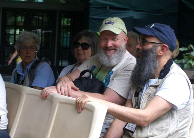 Susan Grose, Eileen McGrath, Bob Clark and Peter Shalit on the tram