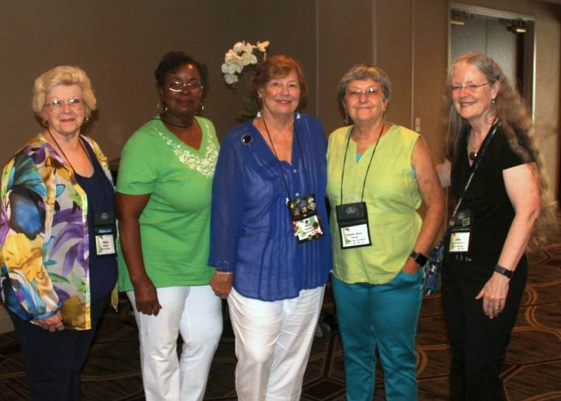 Kathy Spissman, Johnnie Berry, Molly Schneider, Carol Ann Bonner and Julie Mavity-Hudson