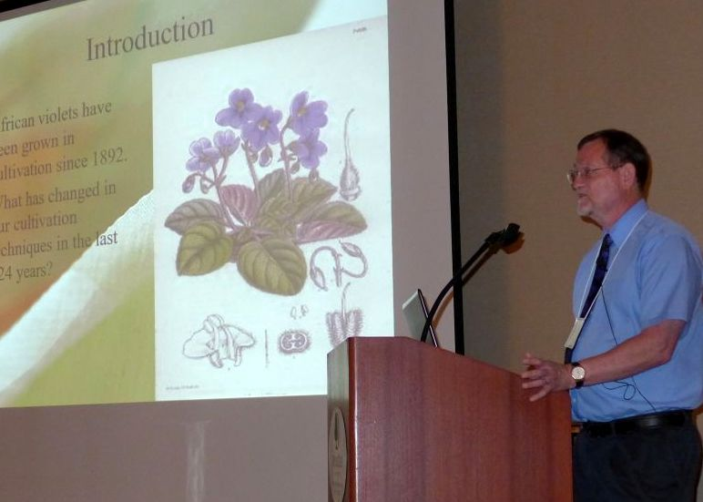 Jeff Smith speaking on species saintpaulia