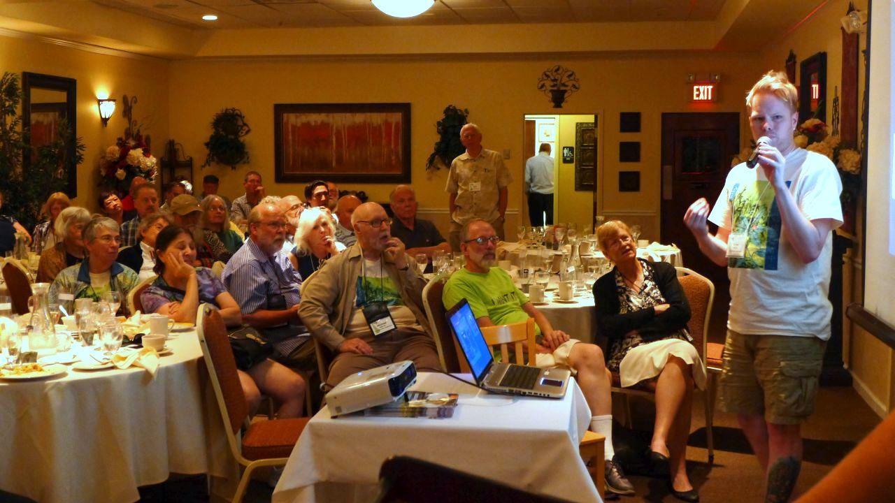 Drew Norris contributes to Jim's presentation