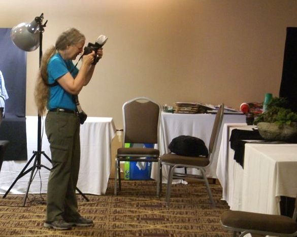 Photography Committee Chairperson Julie Mavity-Hudson at work