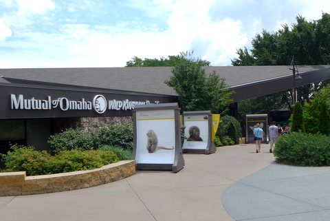 Main entrance to the zoo, home of Mutual of Omaha's Wild Kingdom
