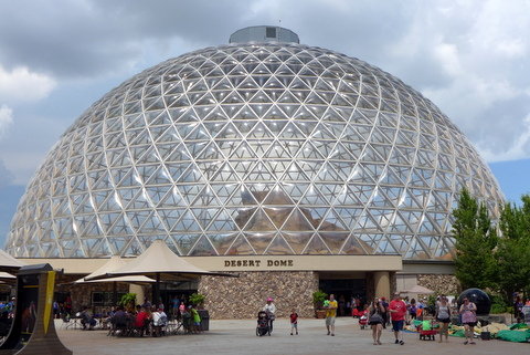 The impressive Desert Dome biosphere