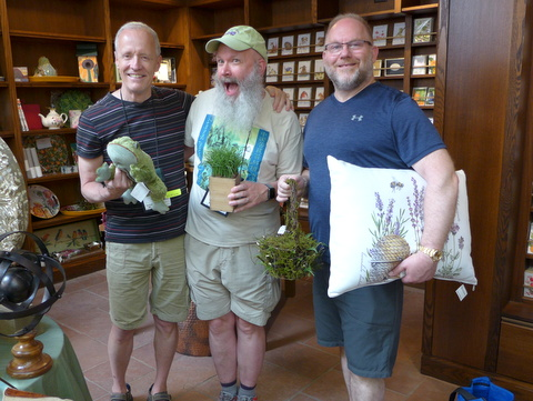 Bill Price, Bob Clark, Winston Goretsky (Second VP) in the gift shop