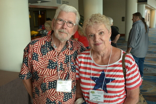 First-time convention attendees Claude and Carol Ann Smith from Nebraska