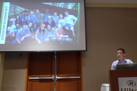 """Lawrenceville student Jonny Yue presenting """"Expedition Ecuador 2017"""""""