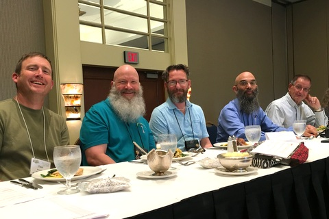 Annual Meeting Dais: Tom Bruning, Bob Clark, Brandon Erikson, Peter Shalit, Leonard Re
