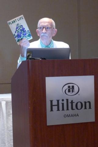 Elvin McDonald presenting