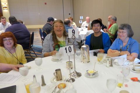 Judges and Clerks: Laura Buckner, Steve Scheuerman, Qiu Zhi-Jing, Dee Stewart