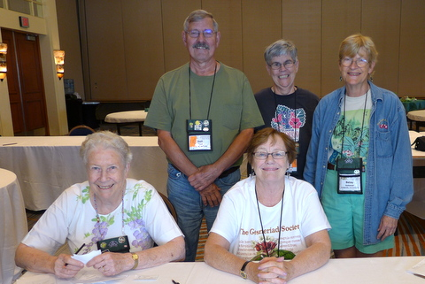 Silent auction volunteers Doris Brownlie, Dell Sherk, Molly Schneider, Elizabeth Varley, Betsy Gottshall