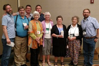 Hard-working Omaha Chapter members: Brandon Erikson, Randy Deutsch, Brent Ruttman, Loris Purtzer, Tom Bruning,    Bonnie Bake, Linda Hall, Anne Vidaver and Scott Evans