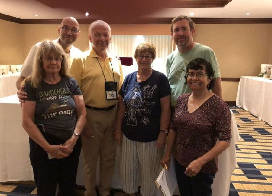 Judges and clerks  (left to right, Marian Yeager, Jay Sespico, Michael Riley, Molly Schneider, Tom Bruning and Gloria Utzig)