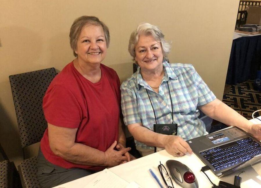 Kathy Coleman and Mary Helen Maran