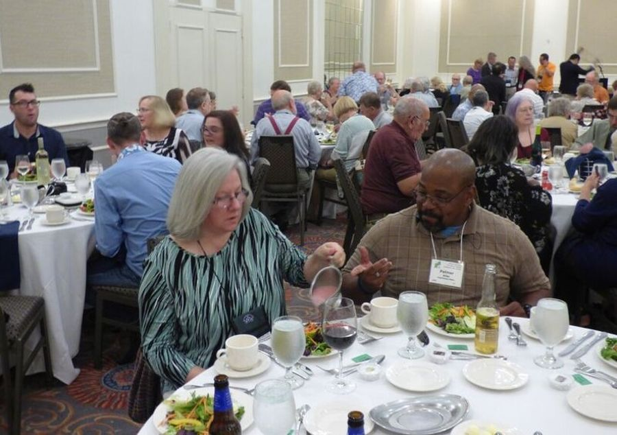 Attendees at the awards banquet