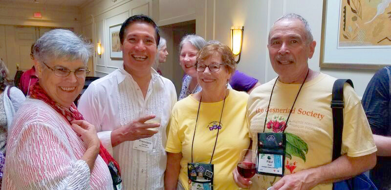 Elizabeth Varley, Francisco Correa, Molly Schneider and Paul Susi at the Host Chapter Social