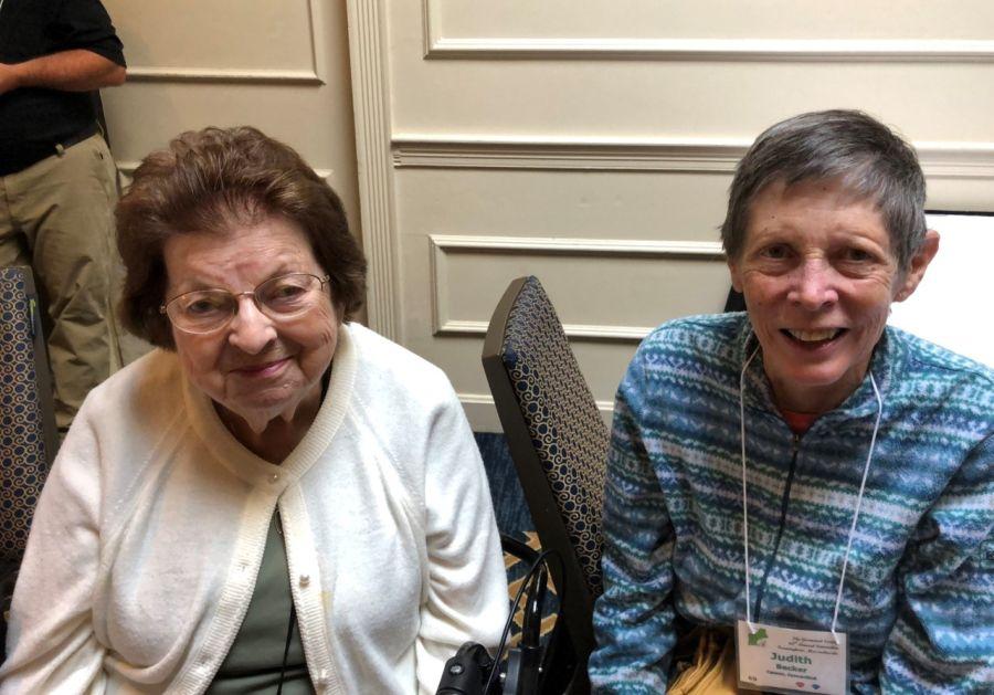Mary Bozoian and Judy Becker