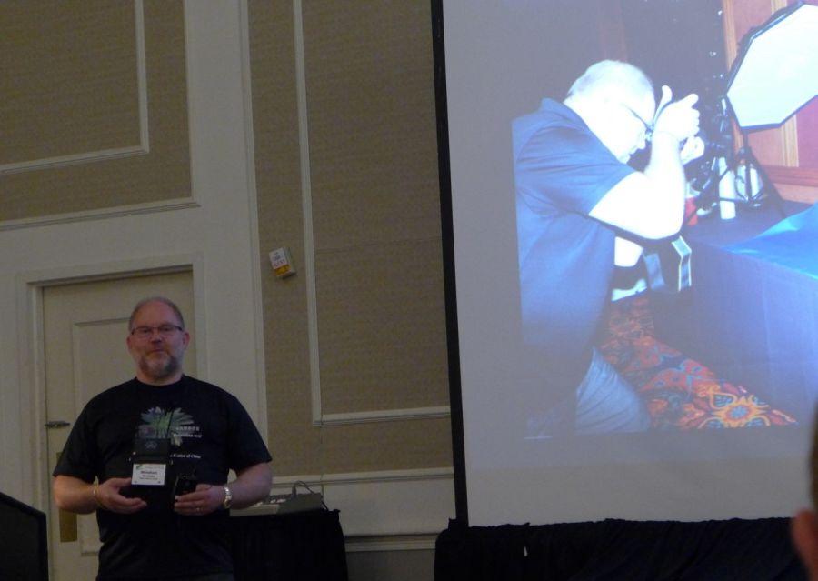 Winston Goretsky presenting next photography session