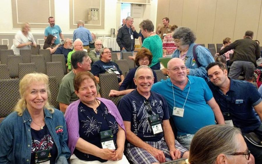 Long Island Chapter members at GHA meeting (left to right, Rosemary Platz, Marilyn Heinrich, Paul Susi, Ray Coyle and Jeremy Stevens)