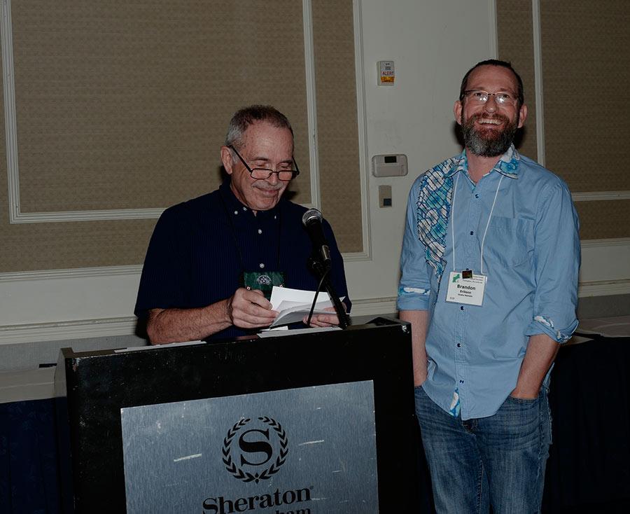 Brandon Erikson receiving the Horticulture Sweepstakes award